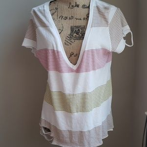 Wildfox Stripped and Cut shirt